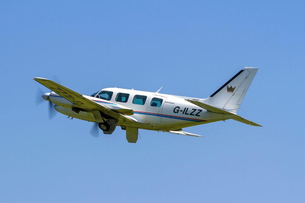 Piper Navajo in flight